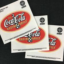 Lot of 3 The Coca Cola Racing Family NASCAR Sticker Oval 2.25 x 3.75 Bottle