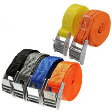 2.5M Pack Cam Tie Down Straps Cargo Lash Luggage Nylon Bag Belt Metal Buckle