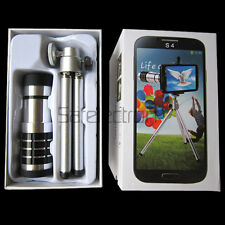 Aluminum 12X Zoom Camera Telescope Lens +Case Tripod for Samsung Galaxy S4 i9500