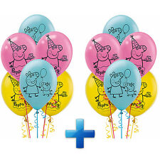 "NEW Peppa Pig 12"" Latex Balloons~Birthday Decoration Party Favor Supplies ~ 12ct"