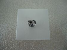 Authentic Pandora September Signature Heart Charm W/ Hinged Gift Box 791784SSA