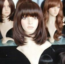 LMRA196  charming medium brown straight lady's wig hair wigs for women
