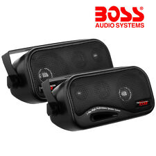 BOSS 200w Box Type Shelf Rear Deck Speakers For Car/Van/Caravan/Boat/MotorHome