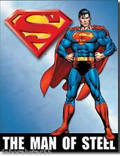 Superman Man of Steel Poster Large Retro Metal Tin Sign D C Comics Fan Gift 1337