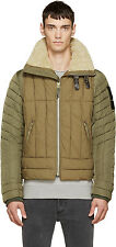 DIESEL W-FRANKIE KHAKI QUILTED JACKET SIZE L 100% AUTHENTIC