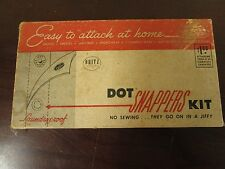 Dritz Dot Snappers Kit, Vintage Rivet tool with snaps