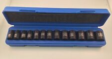 "13pc 3/8"" Dr. Metric 6pt Point Shallow Impact Sockets Set"
