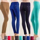 Colorful Skinny Jeggings Leggings Viscose Denim Pants Regular Plus S~3XL Yoain