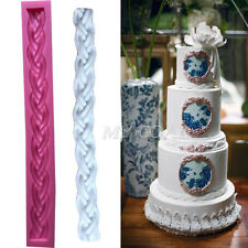 3D Long Bag Rope String Cake Fondant Mould Knit Silicone Decor Sugar Icing Mold