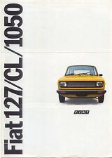 Fiat 127 1050 CL 1977 Original French Foldout Sales Brochure Pub. No. 99520073