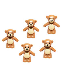 LEGO 5pcs NEW Friends TEDDY BEAR Toy Animal Light Brown Medium Dark Flesh Figure