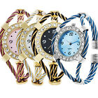 Womens Girls Nice Gift Classic Colorful Golden Quartz Steel Bracelet Wrist Watch