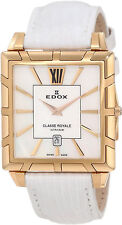 Swiss Made EDOX Classe Royale Ultra Slim MOP Dial Ladies Watch 26022-357R-NAIR