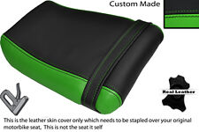 BLACK & GREEN CUSTOM FITS KAWASAKI ZXR 250 A 88-91 REAR LEATHER SEAT COVER
