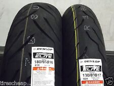 HARLEY TWO TIRE SET 130/80-17  180/65-16 DUNLOP AMERICAN ELITE MOTORCYCLE TIRES