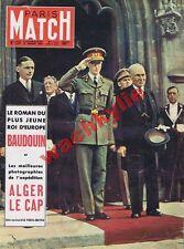 Paris Match n°122 du 21/07/1951 Belgique roi Baudouin Le cap Moisan pub
