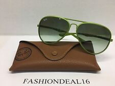 New Authentic Rayban LiteForce Large Green RB4180 6086/8E Italy Sunglasses