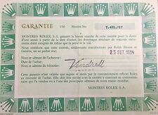 ROLEX Certificate Guarantee SUBMARINER 16800 16610 16613 16618 16660 Sea Dweller