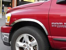 DODGE RAM 1500 2002 - 2008 TFP POLISHED SS FENDER TRIM MOLDING - SHORT BED MODEL