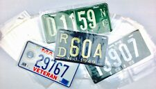 100 License Plate Sleeves 7x14 2 Mil Poly Bags FITS ALMOST ALL LICENSE PLATES