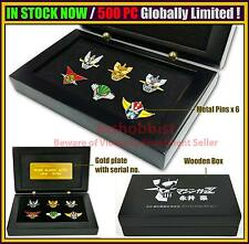 IN STOCK Nagai Gou Robots Mazinger Z Getter Pin Set of 6 500pc Limited Exclusive