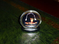 FREDDIE MERCURY & QUEEN GOLD CLAD AND COLOURISED COIN IN ACRYLIC CASE.24