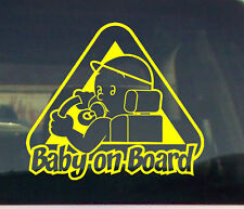 Baby on Board Car window graphic VINYL DECAL STICKER pregnant shower boy idea