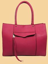 REBECCA MINKOFF Medium MAB MD Fuchsia Saffiano Leather Tote Bag Msrp $265.00