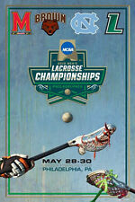 NCAA LACROSSE CHAMPIONSHIPS 2016 Official POSTER North Carolina, Maryland, Brown