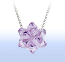 Sterling Silver LIGHT Purple SWAROVSKI Elements CRYSTAL Ball Pendant