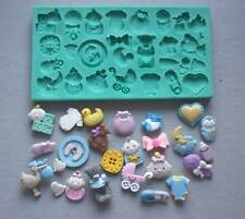 Silicone Mould BABY STUFF 2 Sugarcraft Cake Decorating Fondant / Fimo mold