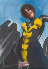 Marvel Dangerous Divas -  Color Sketch Card by Lodrigueza - # 4