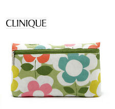 CLINIQUE Makeup Cosmetics Bag decorated with Flower Pattern, Brand NEW!!