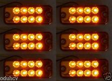 6 pcs 12V 8 LED Side Marker Orange Amber Lights for Truck Mercedes Ford Renault
