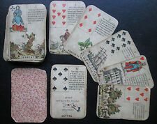 c.1860 Antique Daveluy Fortune Telling Cards RARE Bruges Belgium 36/36 incl. box