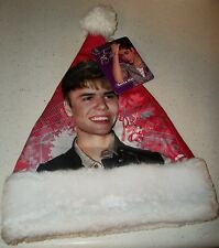 Justin Bieber Holiday Present Xmas Decoration Picture Photo Santa Hat pop