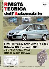 Manuale di riparazione auto-Fiat Ulysse, Lancia Phedra, Citroen C8, Peugeot 807