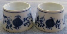 TWO Meissen Blue Onion Low Egg Cups or Salt Dips