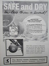 7/1967 PUB WALTER KIDDE HELICOPTER COOL GAS GENERATOR INFLATION SYSTEM AD