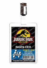 Jurassic Park CEO ID Badge Card Dinosaur Cosplay Film Prop Comic Con Halloween