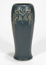 """Rookwood Pottery production bamboo 10"""" vase arts & crafts blue w tan"""