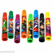 MARIO Brothers KART WII MARKERS (8) ~ Birthday Party Supplies Favors Stationery