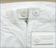 White Extender & Button Pants Shorts Skirt Jean Trouser Waist Line Widen Expand