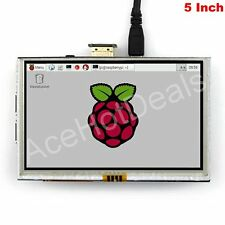 "5"" TFT LCD HDMI Resistive Touch Screen LCD 800x480 for Raspberry Pi 2/3"