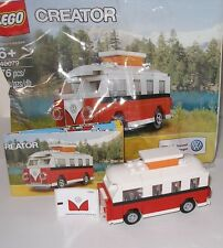 Lego 40079 Creator VW Bus T1 Volskswagen Camper Van mit Aufkleberfolie OVP