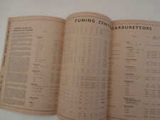 TUNING  ZENITH  CARBURETTORS    quick check over data guide sheet