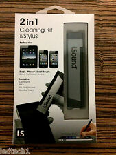 iSound 2 in 1 Cleaning Kit & Stylus for iPad, iPhone, iPod touch & others *BNIB*