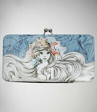 Disney The Little Mermaid Ariel Sketch Kisslock Hinge Wallet New With Tags!