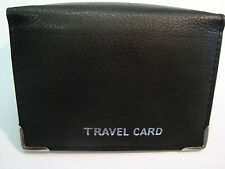 Genuine Soft Leather Travel Pass Holder, and Credit Card id Hodler