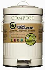 Kitchen Craft 3 Litre Cream Steel Kitchen Compost Bin Food Waste Caddy